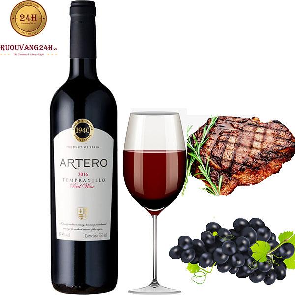 Rượu Vang Artero Tempranillo
