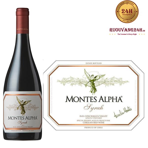 Rượu Vang Montes Alpha Syrah 2