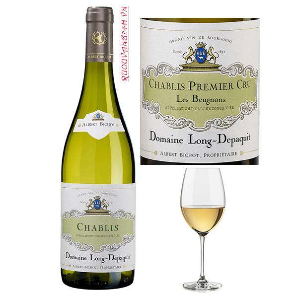 Rượu Vang Albert Bichot Chablis Domaine Long-Depaquit