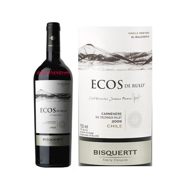 Rượu Vang Bisquertt Single Vineyard Ecos de Rulo Carmenere