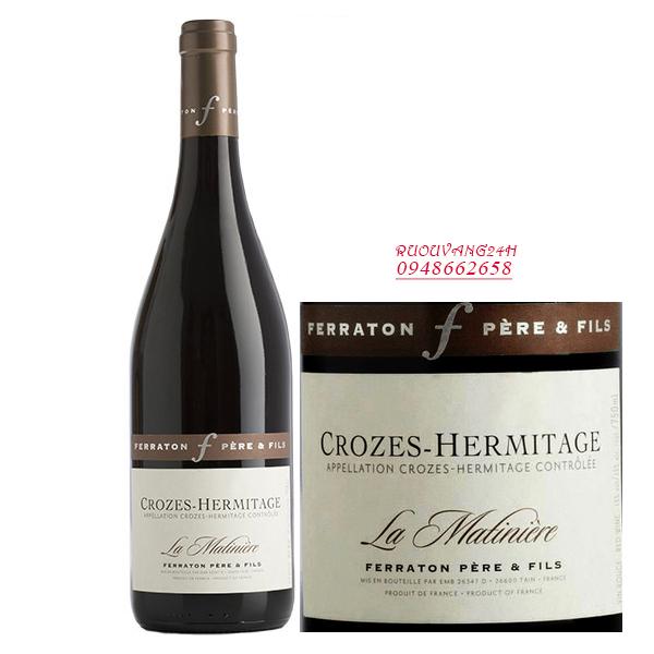 Rượu Vang Ferraton Pere & Fils Crozes-Hermitage