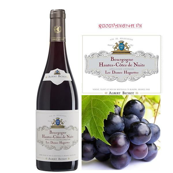 Rượu vang Bourgogne Hautes-Côtes De Nuits Les Dames Huguettes