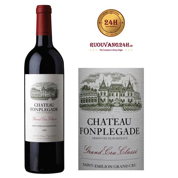 Rượu Vang Chateau Fonplegade