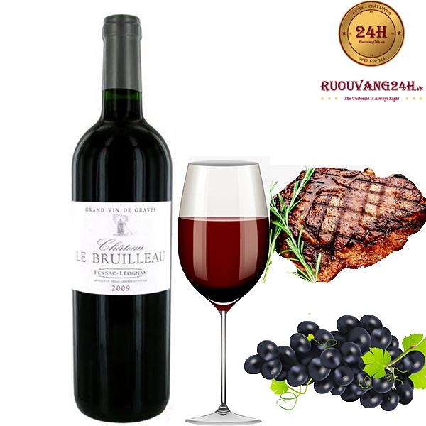 Rượu Vang Chateau Le Bruilleau