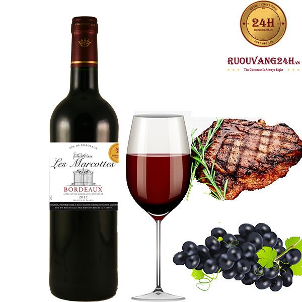 Rượu Vang Chateau Les Marcottes