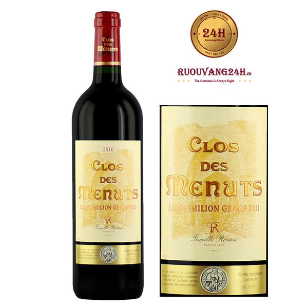 Rượu Vang Clos Des Menuts