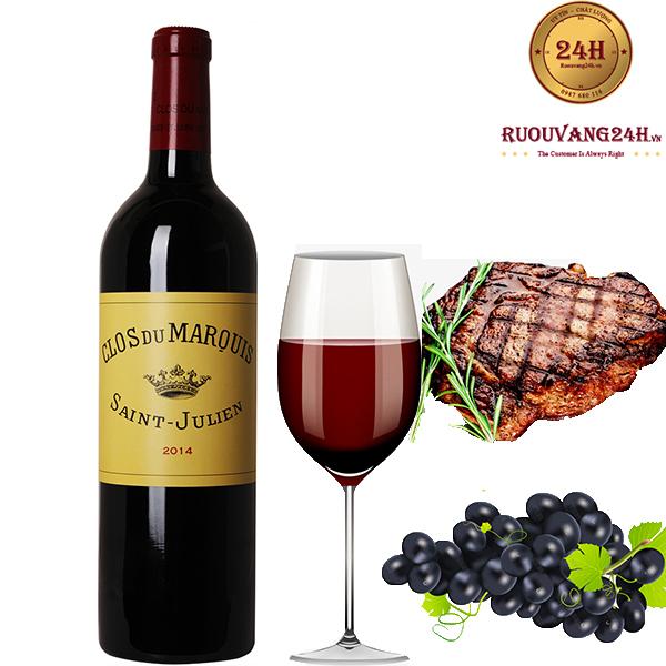 Rượu Vang Clos Du Marquis Saint Julien