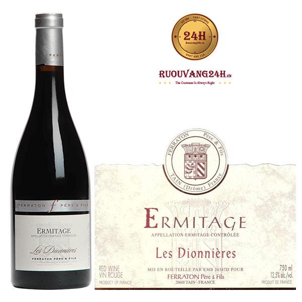 Rượu Vang Ferraton Père & Fils Ermitage Les Dionnières