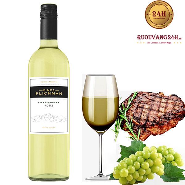 Rượu Vang Finca Flichman Roble Chardonnay