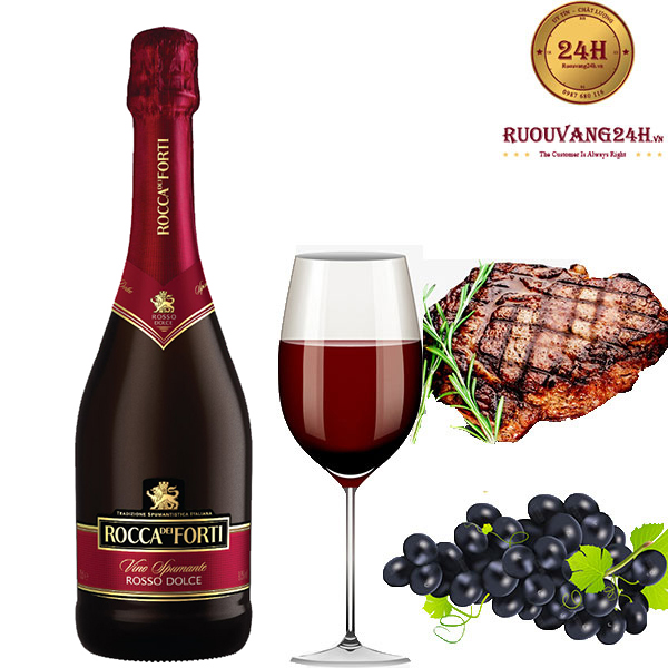 Rượu Vang Nổ Rocca Dei Forti Rosso Dolce