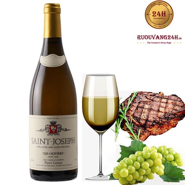 Rượu Vang Saint-Joseph Les Oliviers