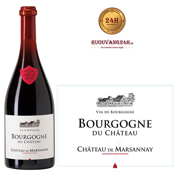 Rượu vang đỏ Bourgogne Du Chateau Chateau de Marsannay