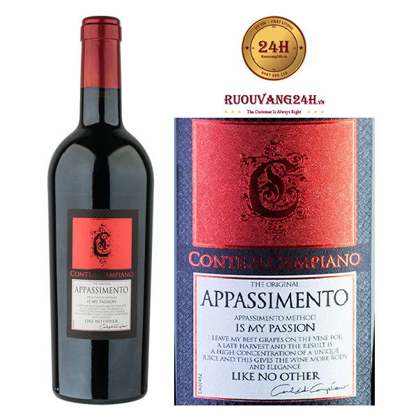 Rượu vang Appassimento Negroamaro Passito Salento