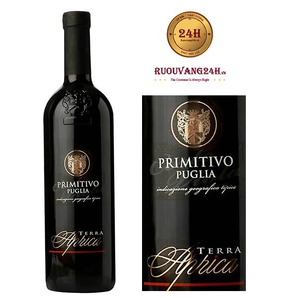 Rượu vang Aprica Negroamaro Primitivo Puglia Terra