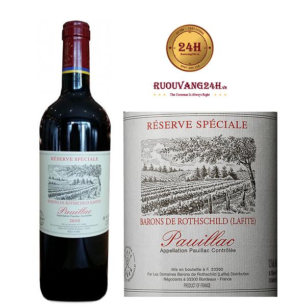 Rượu Vang Barons de Rothschild Reserve Pauillac Speciale