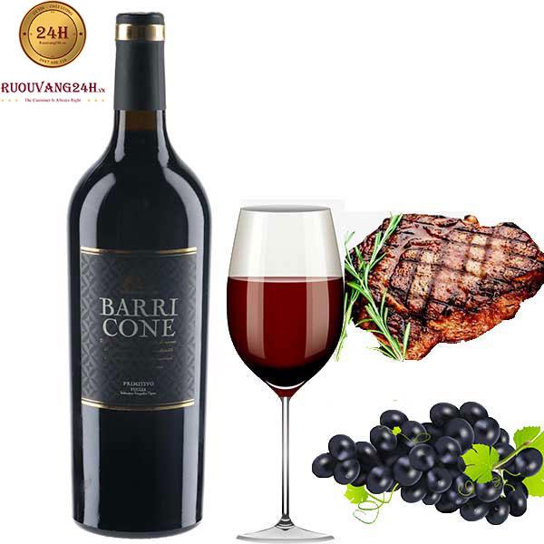Rượu vang Barricone Primitivo