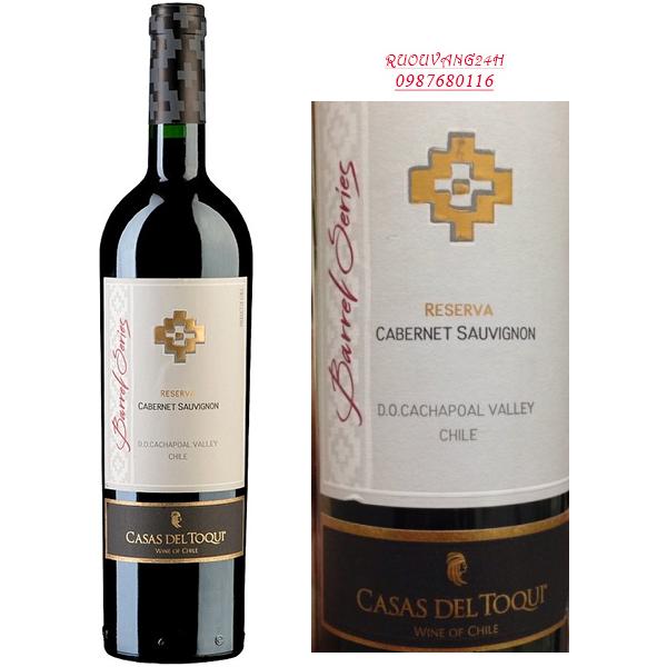 Rượu vang Casas Del Toqui Barrel Reserva Cabernet Sauvignon