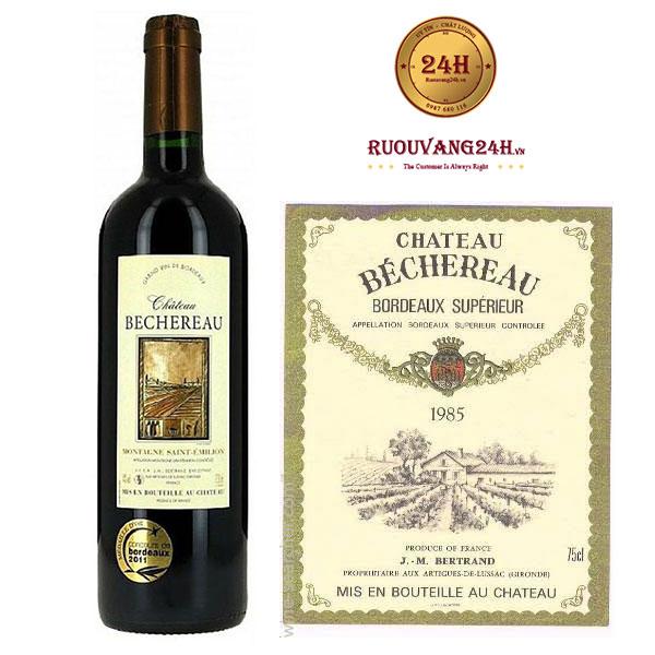 Rượu vang Chateau Bechereau