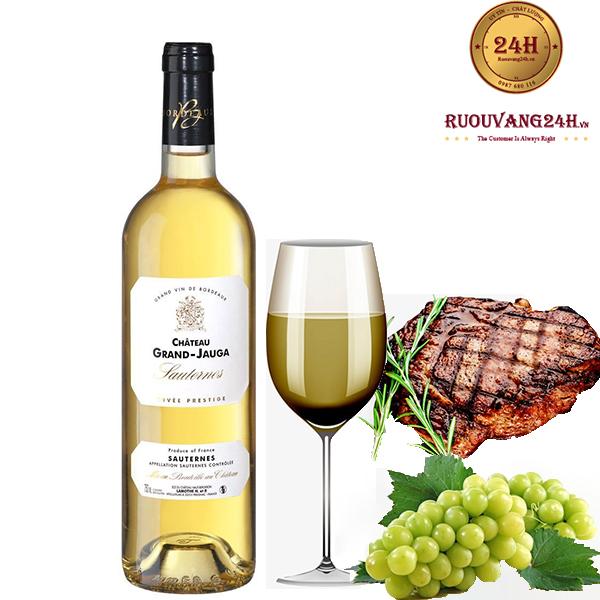 Rượu vang Chateau Gran Jauga Sauternes