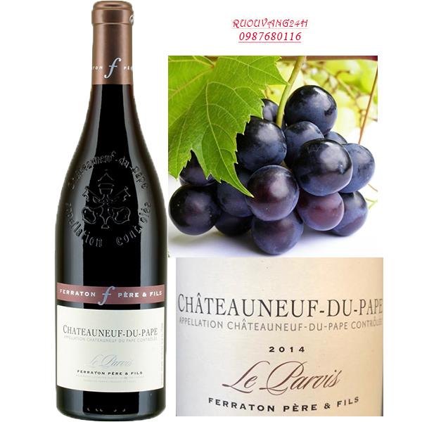 Rượu vang Chateauneuf-du-Pape Le Parvis