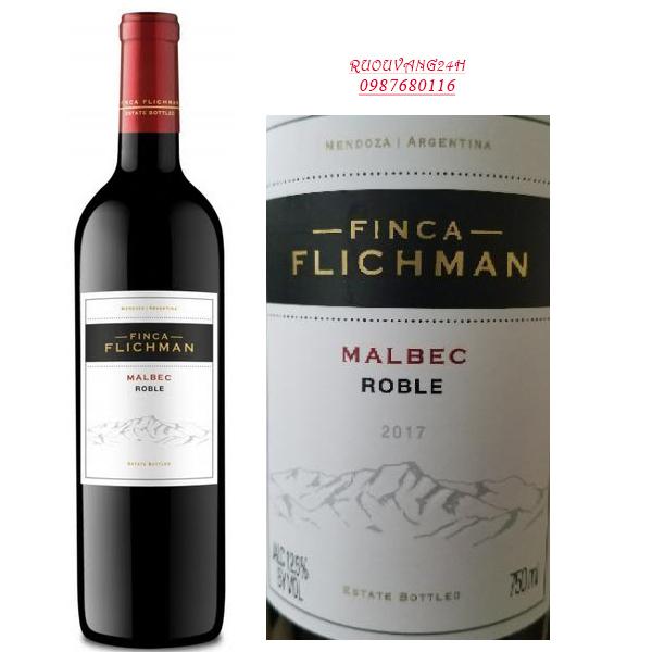 Rượu vang Finca Fichman Roble Malbec