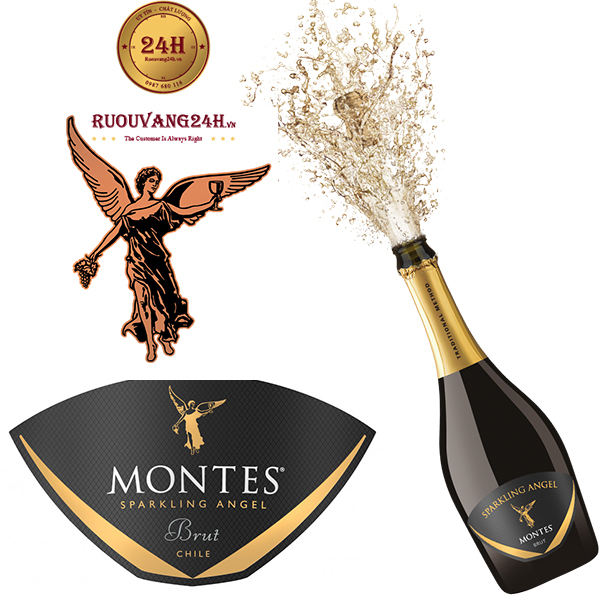 Rượu vang Montes Sparkling Angel