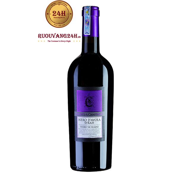 Rượu vang Conte Di Campiano Nero D'avola Syrah Terre Siciliane