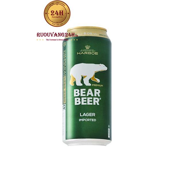 Bia Harboe Bear Beer Lager Imported 5 độ