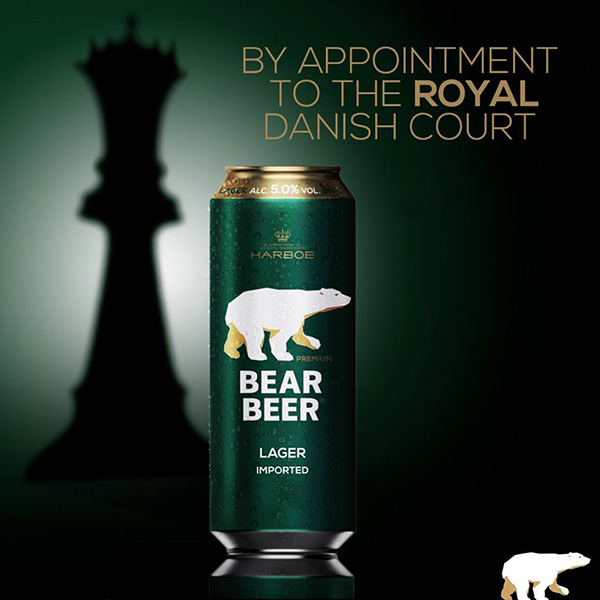 Bia Harboe Bear Beer Lager Imported