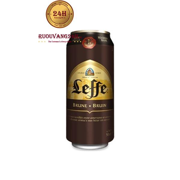 Bia Lon Leffe Nâu 6,5 độ – NHập Khẩu Bỉ
