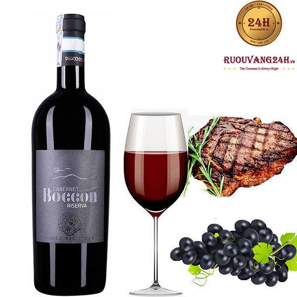 Rượu vang Boccon Cabernet Riserva 2