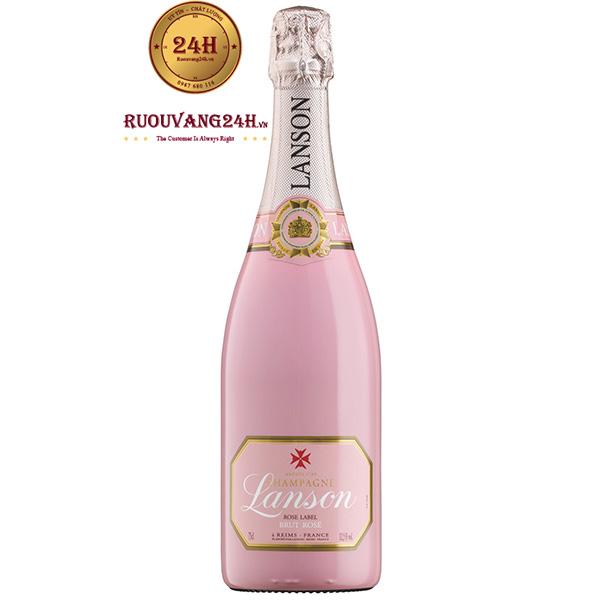 Rượu Champagne Lanson Rose Label