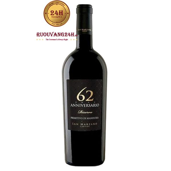 Rượu Vang 62 Anniversario – Vang Ý San Marzano 62 Năm