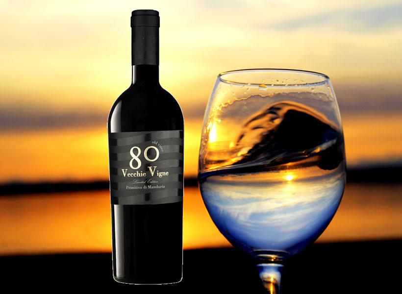 Rượu Vang 80 Vecchie Vigne Riserva Primitivo Di Manduria