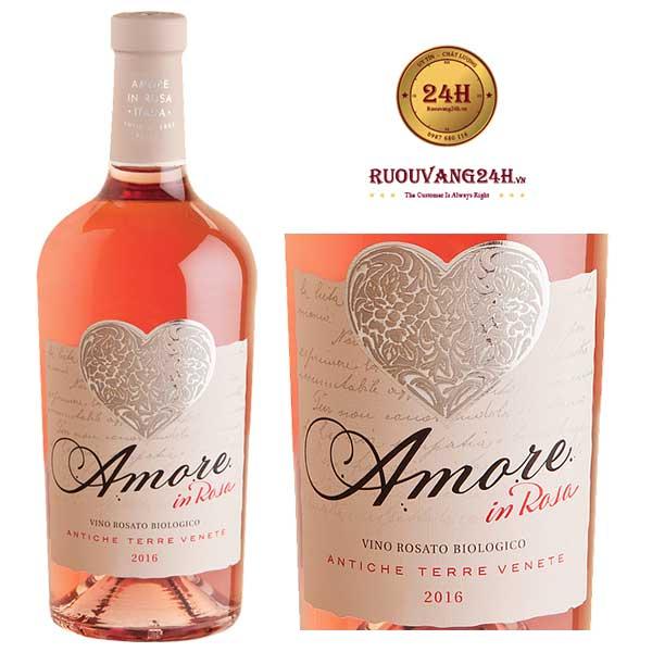 Rượu Vang Amore In Rosa Vino Rosato Biologico