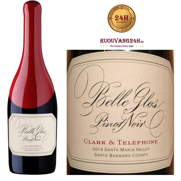 Rượu Vang Belle Glos Pinot Noir Las Alturas