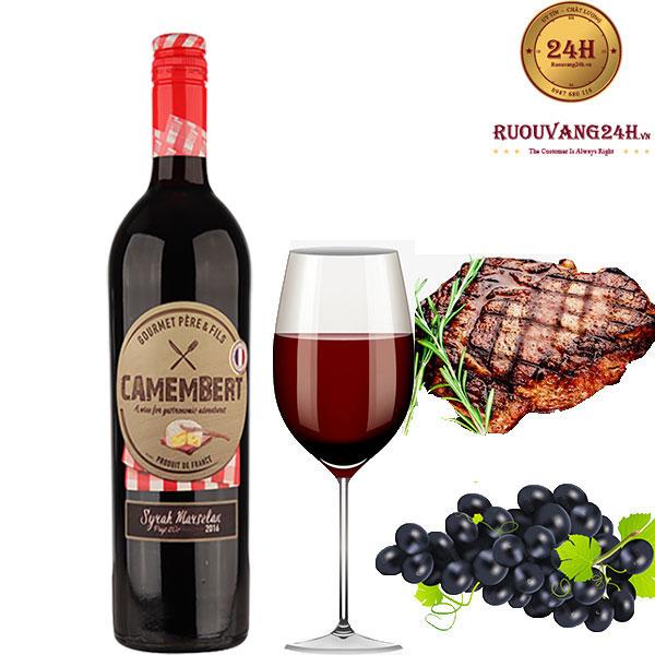 Rượu Vang Camembert Syrah Marsenlan VDP
