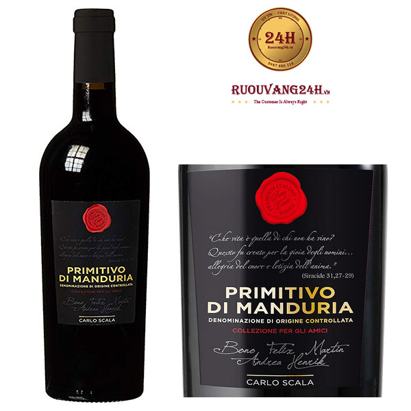 Rượu Vang Carlo Scala Primitivo Di Manduria
