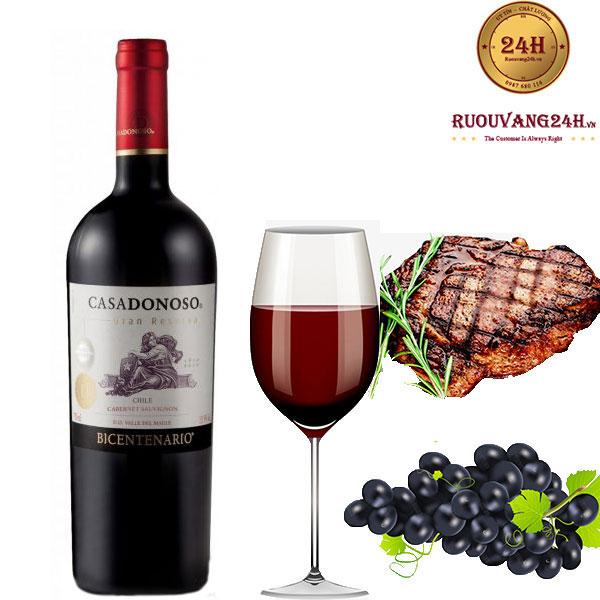 Rượu Vang Chile Casadonoso Gran Reserva Cabernet Sauvignon