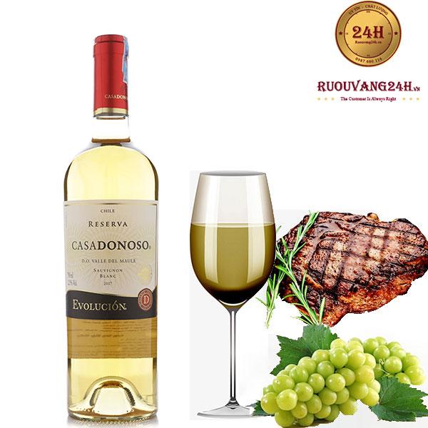 Rượu Vang Chile Casadonoso Reserva Sauvignon Blanc