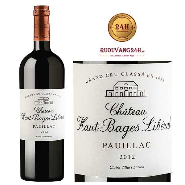 Rượu Vang Chateau Haut - Bages Liberal