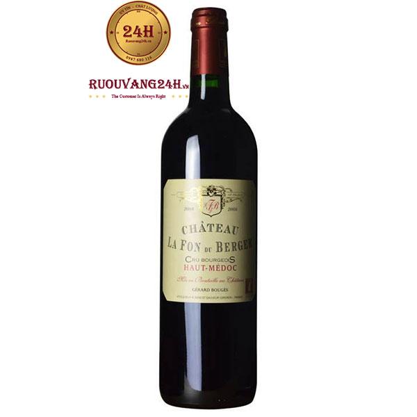 Rượu Vang Chateau La Fon Du Berger