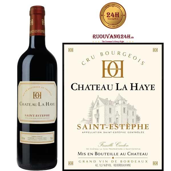 Rượu Vang Chateau La Haye Saint - Estephe