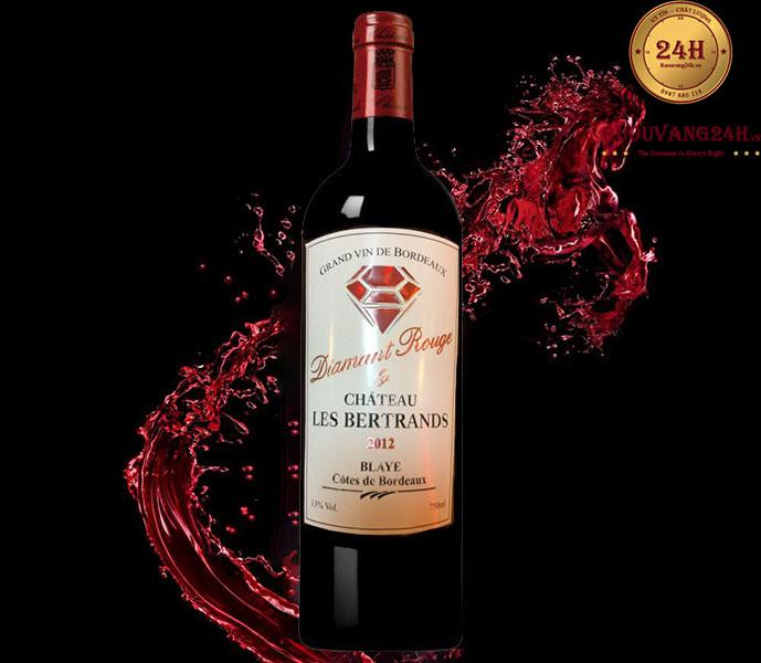 Rượu Vang Chateau Les Bertrands Diamant Rouge