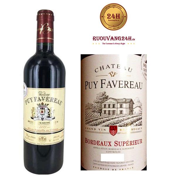Rượu Vang Chateau Puy Favereau