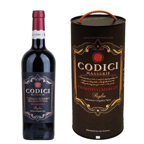 Rượu Vang Bịch Codici Masserie