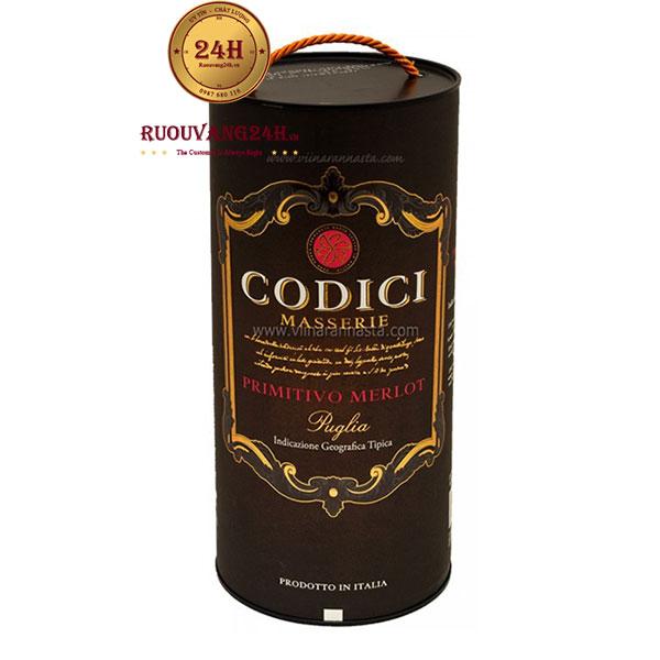 Rượu Vang Bịch Codici Masserie 3 Lít – 5 Lít