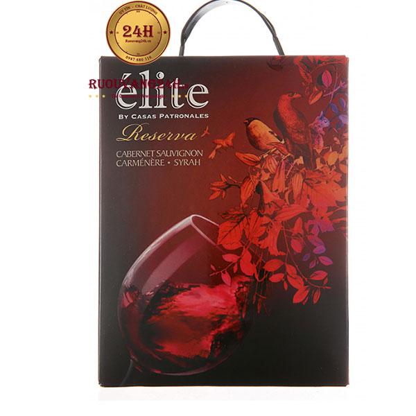 Rượu Vang Bịch Elite Reserva 3l