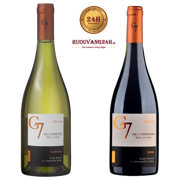Rượu Vang G7 Reserva Chardonnay