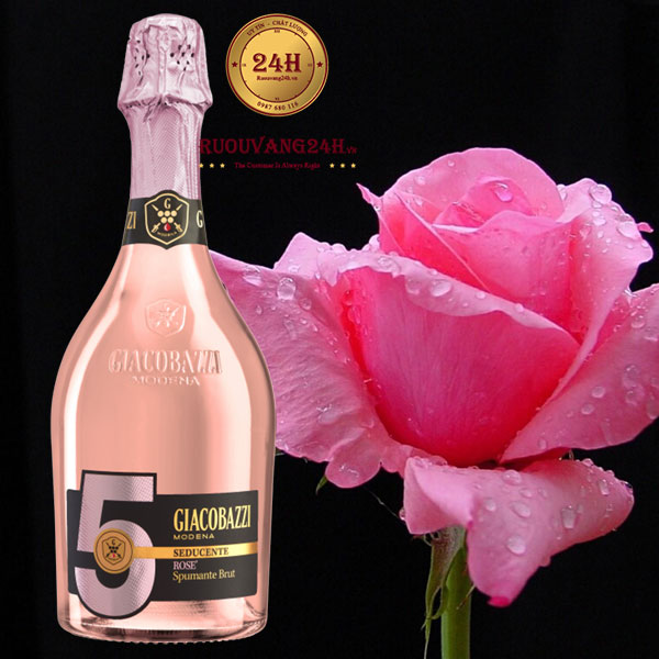Rượu Vang Giacobazzi 5 Spumante Rose' Brut